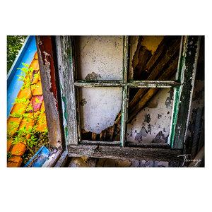"Online Outlet ""Abandoned House"" (alu di-bond 80 x 60 cm)"